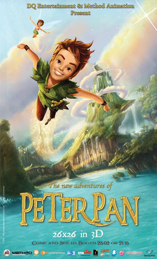 Peter Pan, ON kids and family, Method Animation, ON Entertainment, ON Animation Studios