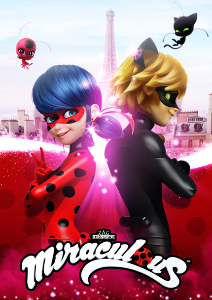 Miraculous Ladybug et Chat Noir, ON kids and family, ON Entertainment, Method Animation, Zagtoon, Zag Heroez; Ladybug and Cat Noir